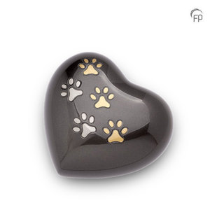 HUH 010 M Metal pet urn heart medium