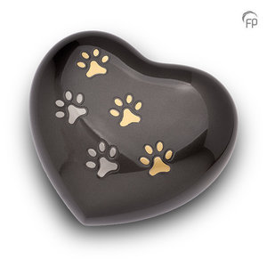 HUH 010 L Metal pet urn heart large
