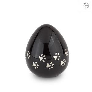 FPU 201 Metal pet urn Coco black