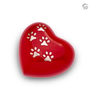 HUH 018 M Metal pet urn heart medium