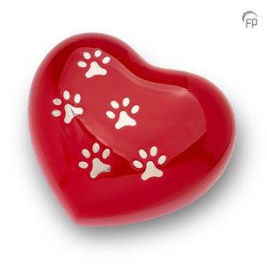HUH 018 L Metal pet urn heart large