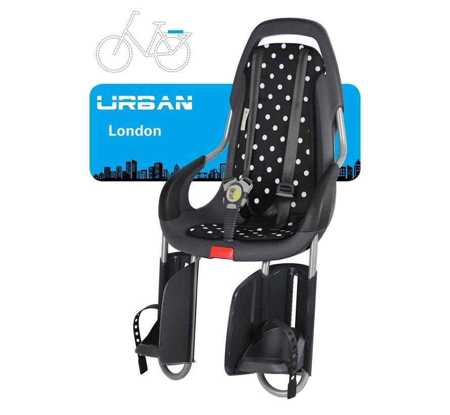Kinderzitje Qibbel - To Go Urban -  London met dragerbevestiging - antraciet