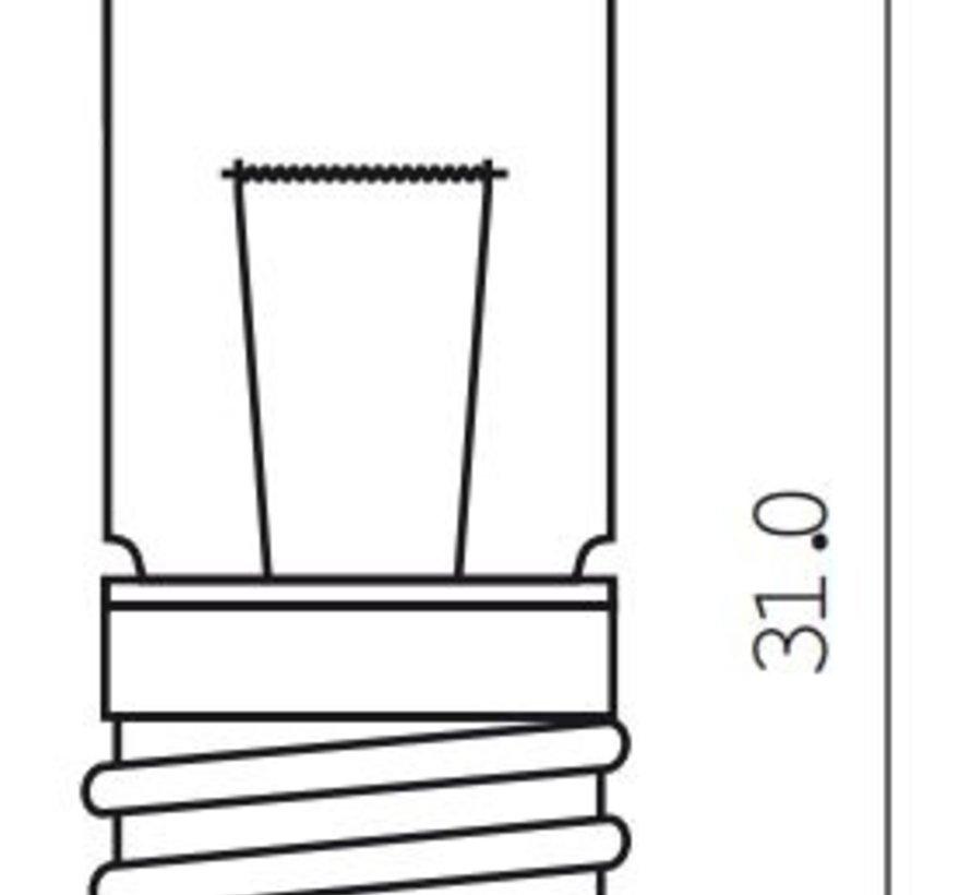 Halogeenlamp E10  - 6 Volt / 2,4 Watt