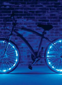 BIKEFUN Kleurenled wielverlichting Bikefun voor 2 wielen (kleuren assortiment)
