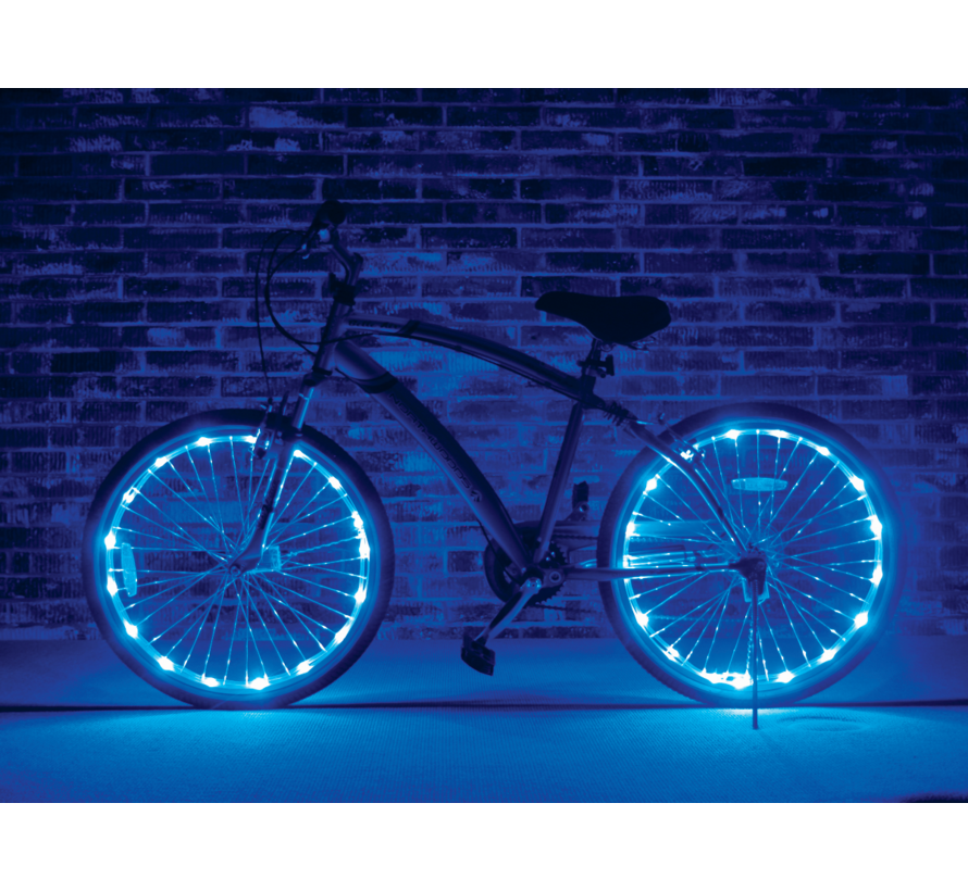 Kleurenled wielverlichting Bikefun voor 2 wielen (kleuren assortiment)