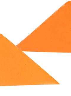 WIDEK Veiligheidsvlag Widek fluor oranje met oranje mantel - zonder knop
