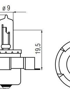 BOSMA LAMP 12V-15W P26S-HALOGEEN