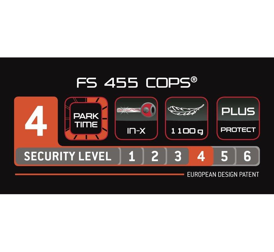 Vouwslot Trelock FS 455/85 Cops - Zilver