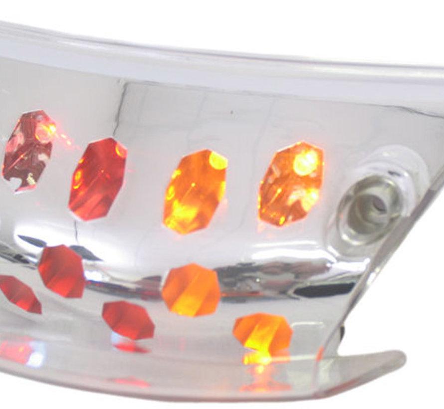 Achterlicht 'Led' + richtingaanwijzer Edge Piaggio Zip 2000 - met helder glas