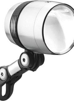 BUSCH & MÜLLER Koplamp Busch & Müller Lumotec IQ-X voor naafdynamo 6-60 Volt - 100 lux - zilver