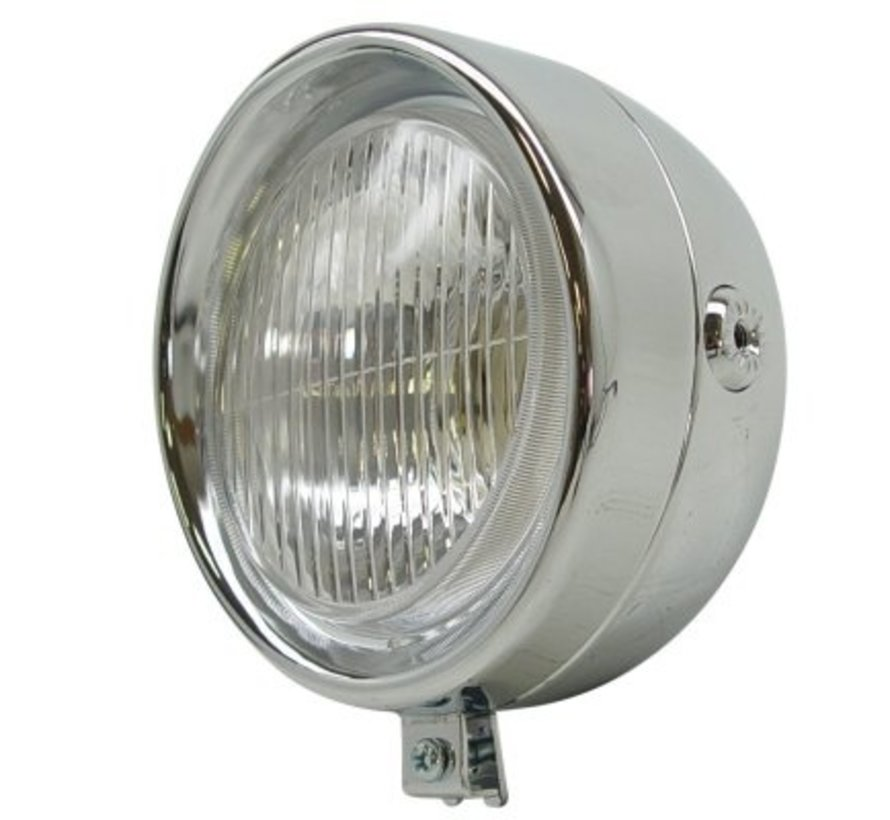 Koplamp Puch maxi rond classic chroom