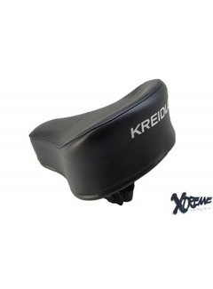 XTREME Zadel Kreidler MP2/ MP3/ flory zwart met op druk origineel model