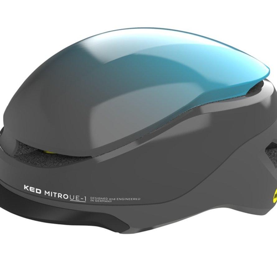 Fietshelm KED Mitro UE-1 L (58-61cm) - blauw / grijs