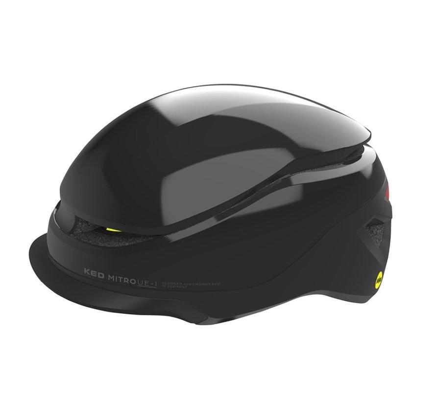 Fietshelm KED Mitro UE-1 L (58-61cm) - zwart