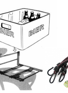 STECO Krat-Mee Steco bagagedragerverbreder inclusief spin - mat zwart