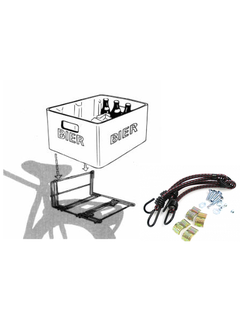 Krat-Mee Steco bagagedragerverbreder inclusief spin - mat zwart
