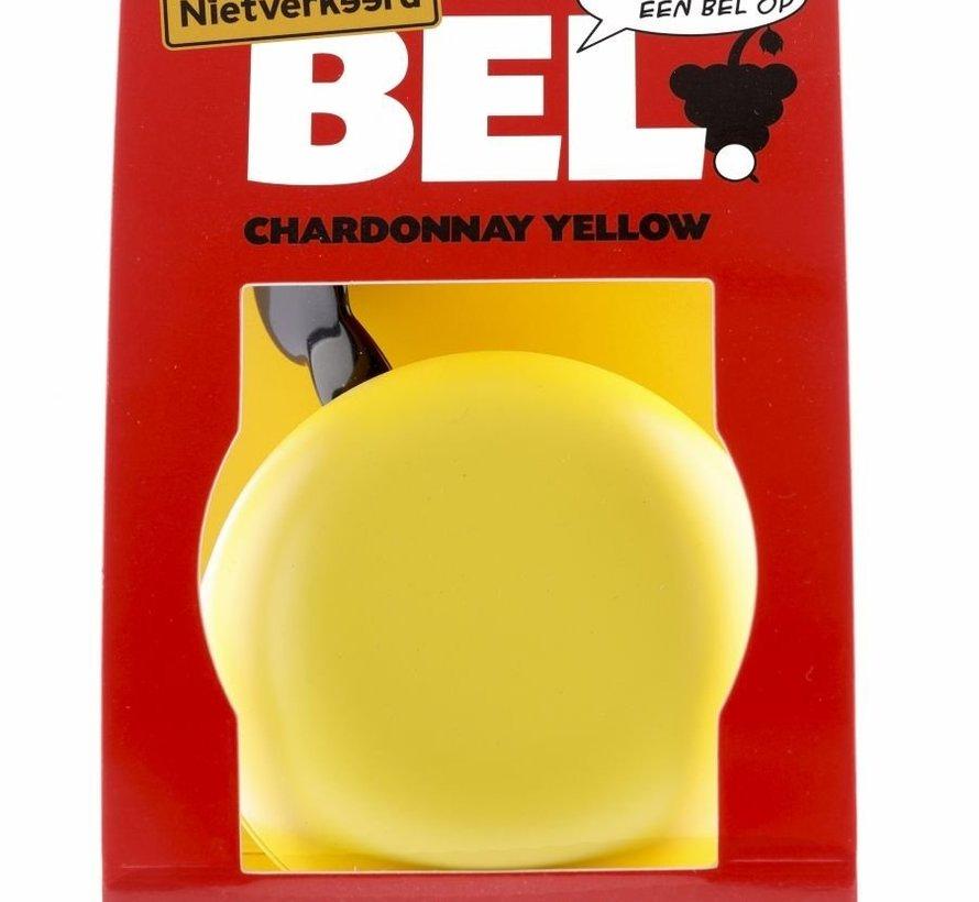 Fietsbel Niet Verkeerd Ding Dong Chardonnay Yellow 80 mm - mat geel