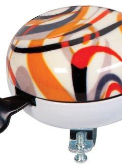 WIDEK Fietsbel Widek Ding Dong Art Collection Fusion ø80 mm - oranje (op kaart)