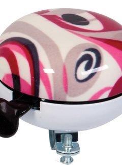 WIDEK Fietsbel Widek Ding Dong Art Collection Fusion ø80 mm - roze (op kaart)