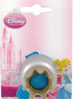 WIDEK Fietsbel Widek Walt Disney Princess Kroontjes - aqua (op kaart)
