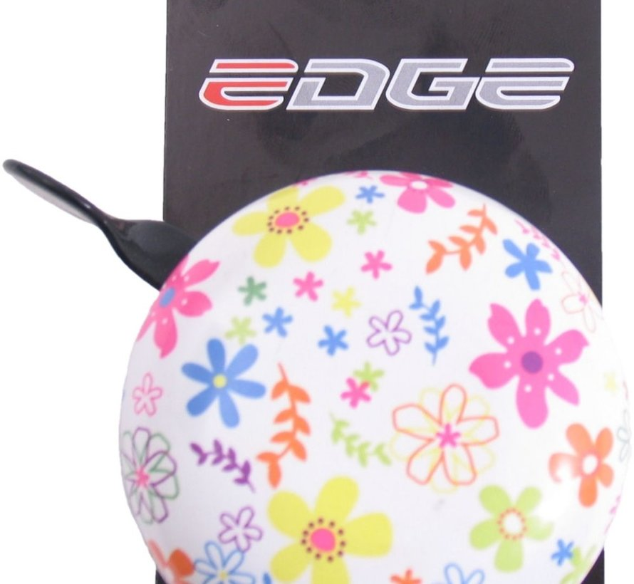 Fietsbel Edge Ding-Dong ø80mm - Bloemen