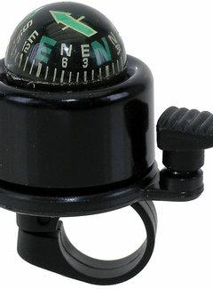 EDGE Fietsbel Edge World Mini - met kompas - zwart