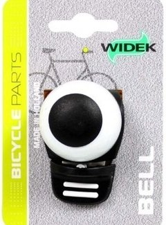 WIDEK Fietsbel Widek Compact 2 - zwart/wit (op kaart)