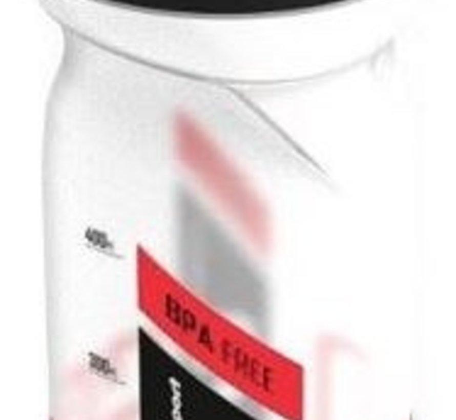 Bidon Polisport S600 met schroefdop - 600 ml - transparant/zwart/rood