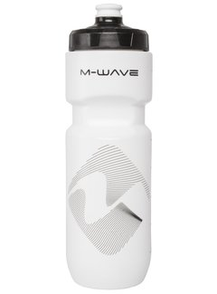 M-WAVE Bidon M-WAVE PBO 750 ml - wit (op kaart)