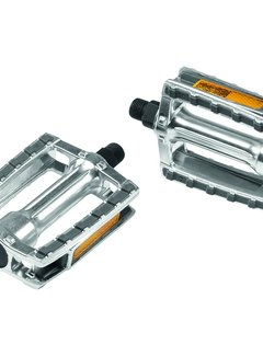 """ERGOTEC Pedaalset Ergotec 658 9/16"""" met reflector - zilver/grijs"""