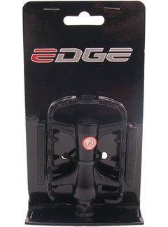 Pedaalset Edge MTB Low Profile - Alu zwart met polish zijkant