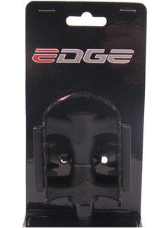 Pedaalset Edge MTB kunststof met ijzeren rand - zwart