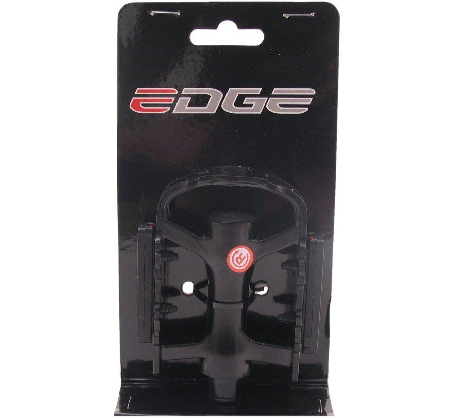 Pedaalset Edge MTB/Trekking Luxe - aluminium zwart