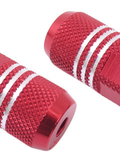 """EDGE Voetsteunset Edge Freestyle 80 mm op 3/8"""" as - rood"""
