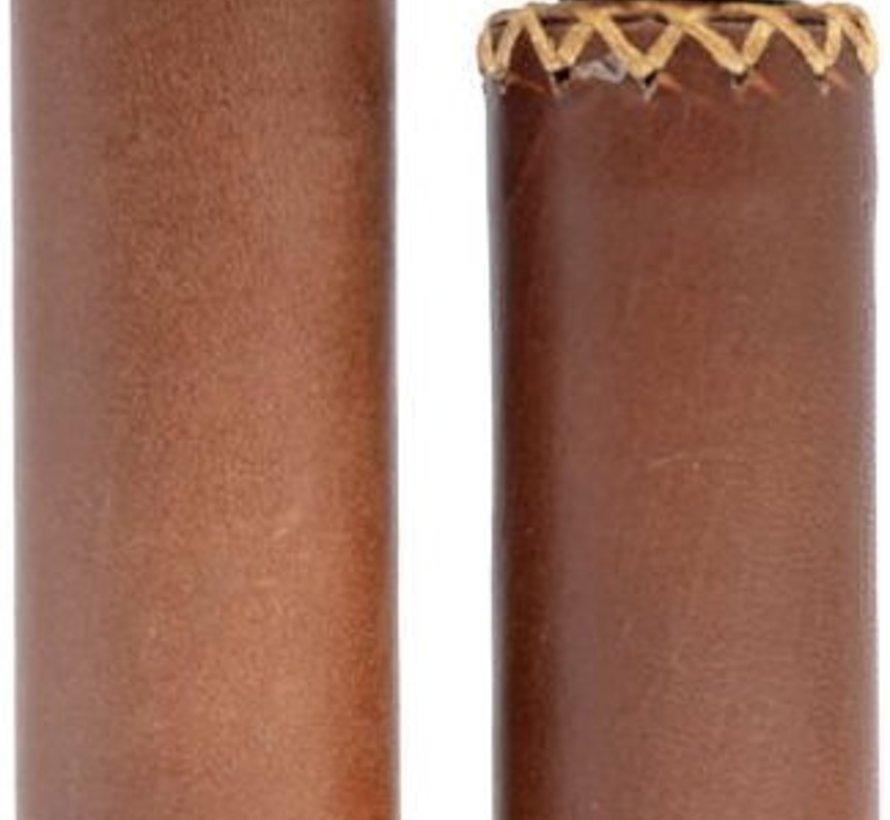 Simson Handvatten LEDER bruin - lang/kort