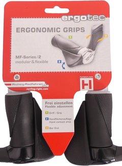 ERGOTEC Handvatpaar Ergotec MF2 kraton / aluminium 87+87 mm - zwart