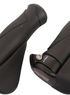 ERGOTEC Handvatpaar Ergotec MF1 kraton / aluminium 130+130 mm - zwart