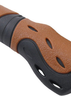 PRO GRIP Handvat Ergonomisch-Gel Lang-model  Zwart/bruin   (per stuk)