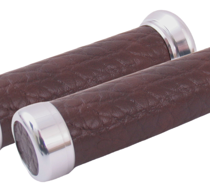 Handvatset Leder look - bruin
