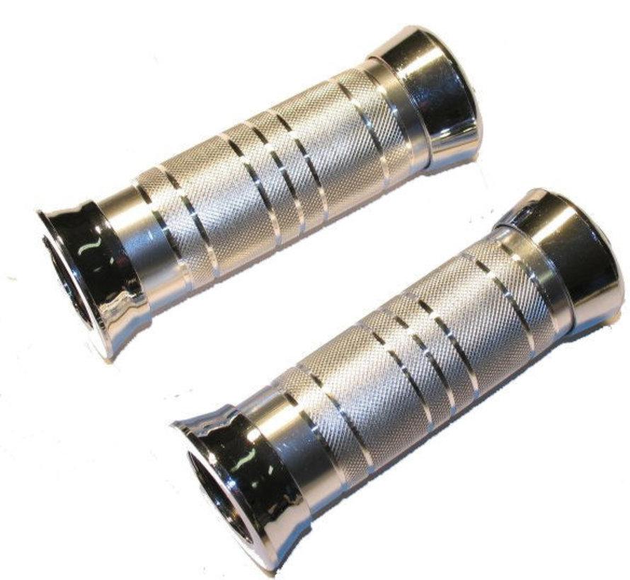 Handvatset aluminium - chroom ringen