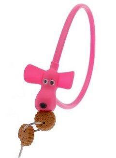 PexKids kabelslot Flappie de waakhond met 2 sleutelkoekjes - ø10 mm x 58 cm - roze