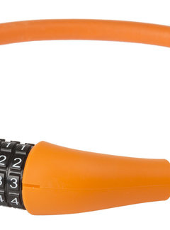 M-WAVE Kabelcijferslot M-Wave Silicon 900*12mm Oranje