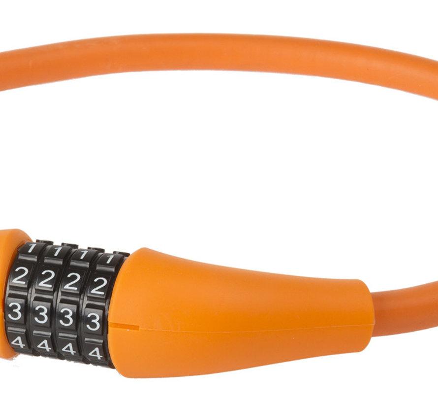 Kabelcijferslot M-Wave Silicon 900*12mm Oranje