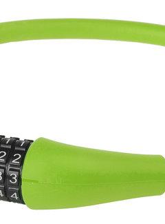 M-WAVE Kabelcijferslot M-Wave Silicon 900*12mm Groen