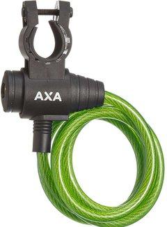 AXA Spiraalkabelslot AXA Zipp 120/8 - groen (op kaart)