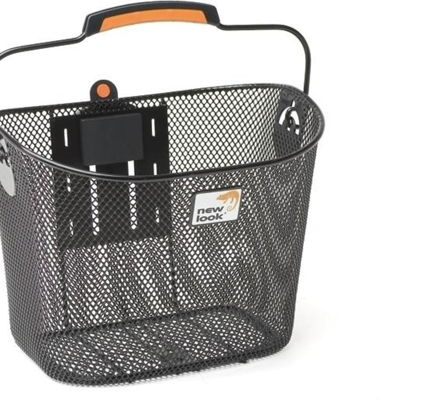 Fietsmand New Looxs Toscane Turnlock staal - 19 ltr. - zwart