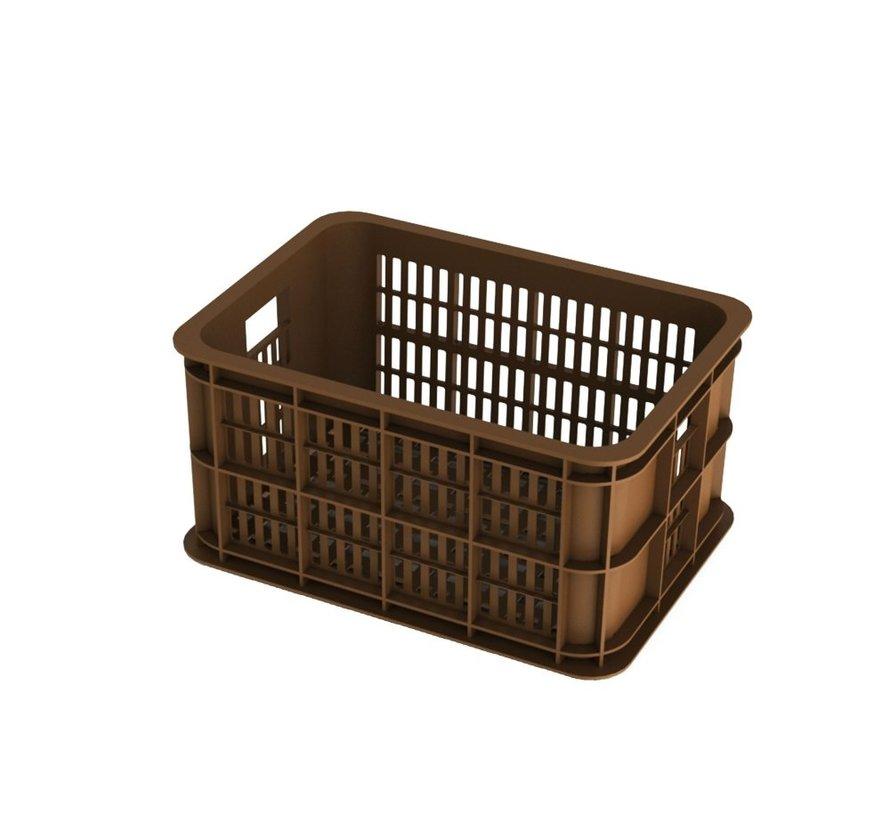 Basil Crate Small Fietskrat - 25 liter - Zadel Bruin