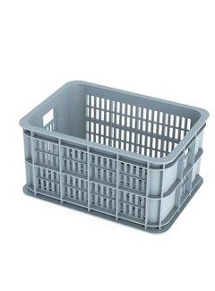 BASIL Basil Crate Small Fietskrat - 25 liter - Zilver Cloud