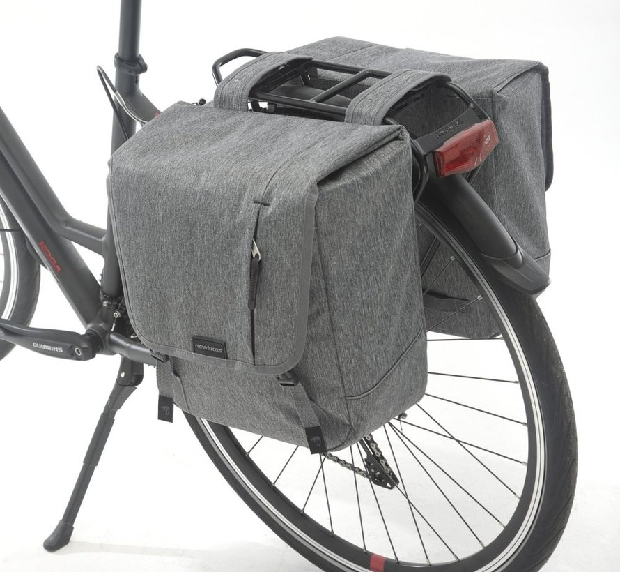 Dubbele fietstas New Looxs Nova Double MIK - 32 liter - grijs