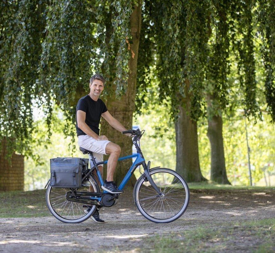 Dubbele fietstas New Looxs Bisonyl - 46 liter - grijs